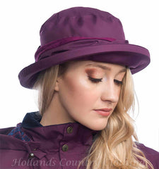 plum rain hat Canterbury Waterproof  Brimmed Hat by Lighthouse