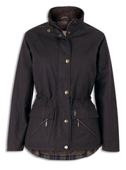 Jack Murphy Sallygap Fleece Lined Waxed Jacket. Three colours, Rich Brown, True Black, and Deep Claret