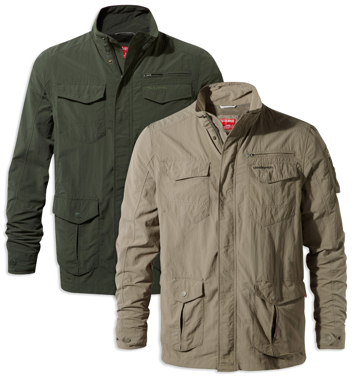 Craghoppers NosiLife Adventure Jacket I in Khaki and Pebble