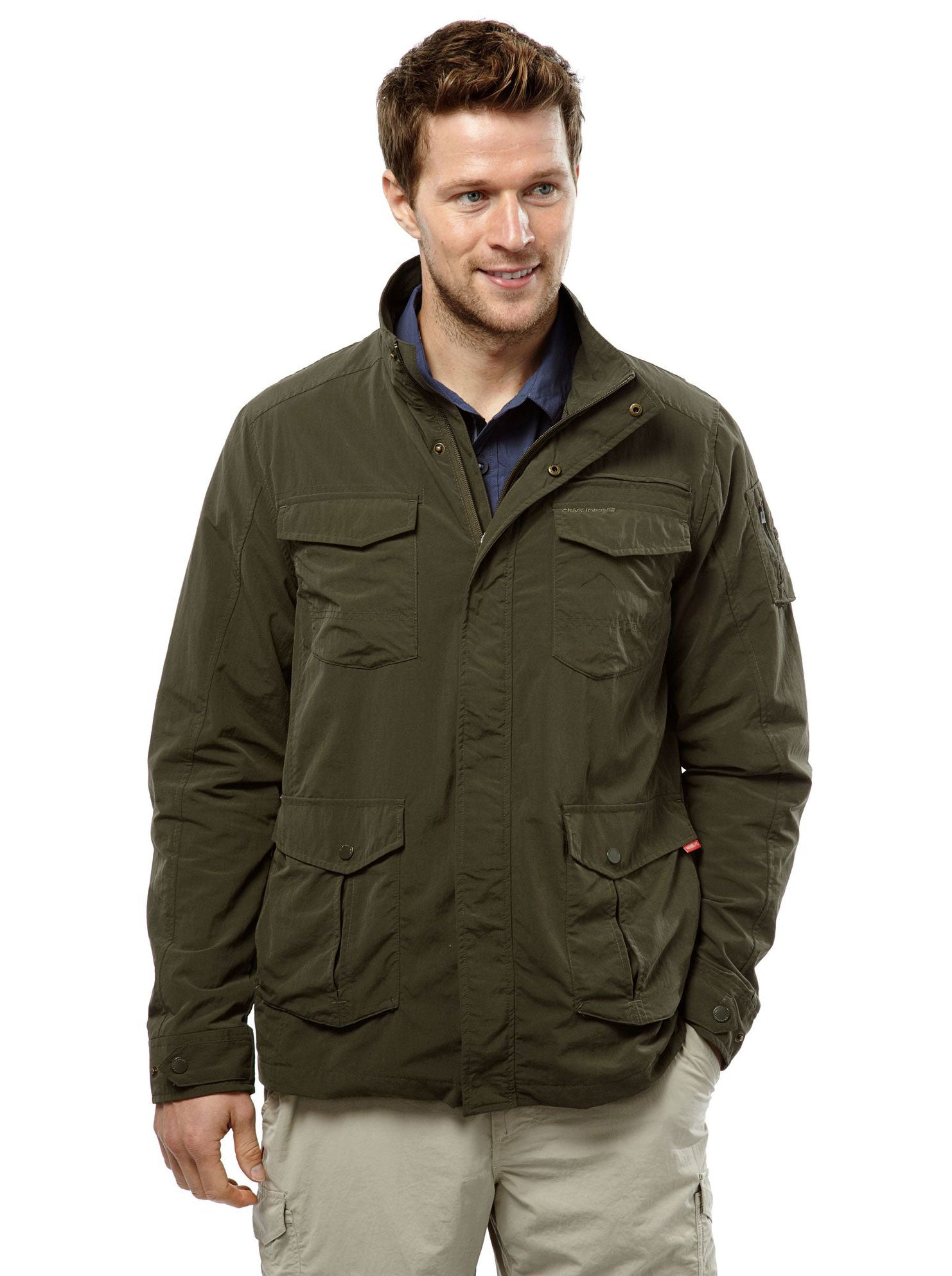 Khaki Adventure I Multi-pocket Travel Jacket by Craghoppers
