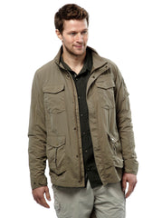 Worn open Adventure I Multi-pocket Travel Jacket by Craghoppers
