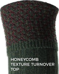 quality shooting socks with honeycomb textured turn over tops