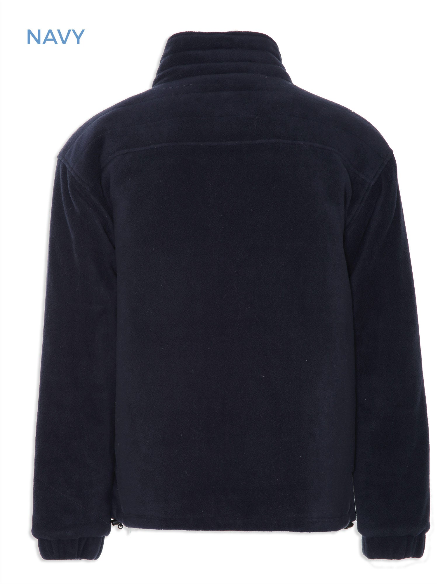 Back view Glen Lined Fleece Jacket from Champion in navy