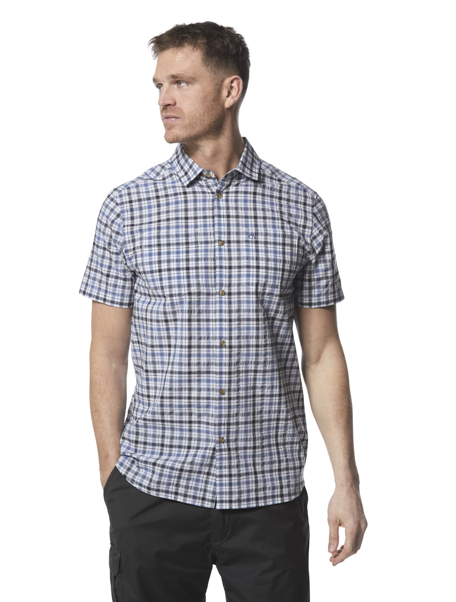 man wearing Craghoppers Giovanni Short Sleeved Shirt