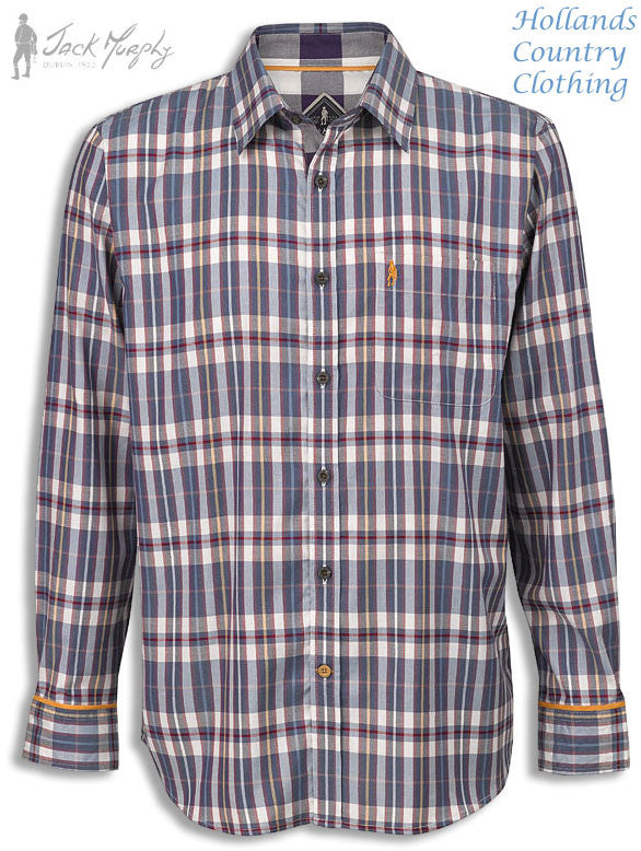 Jack Murphy Oscar Long Sleeve Shirt all pure cotton country check
