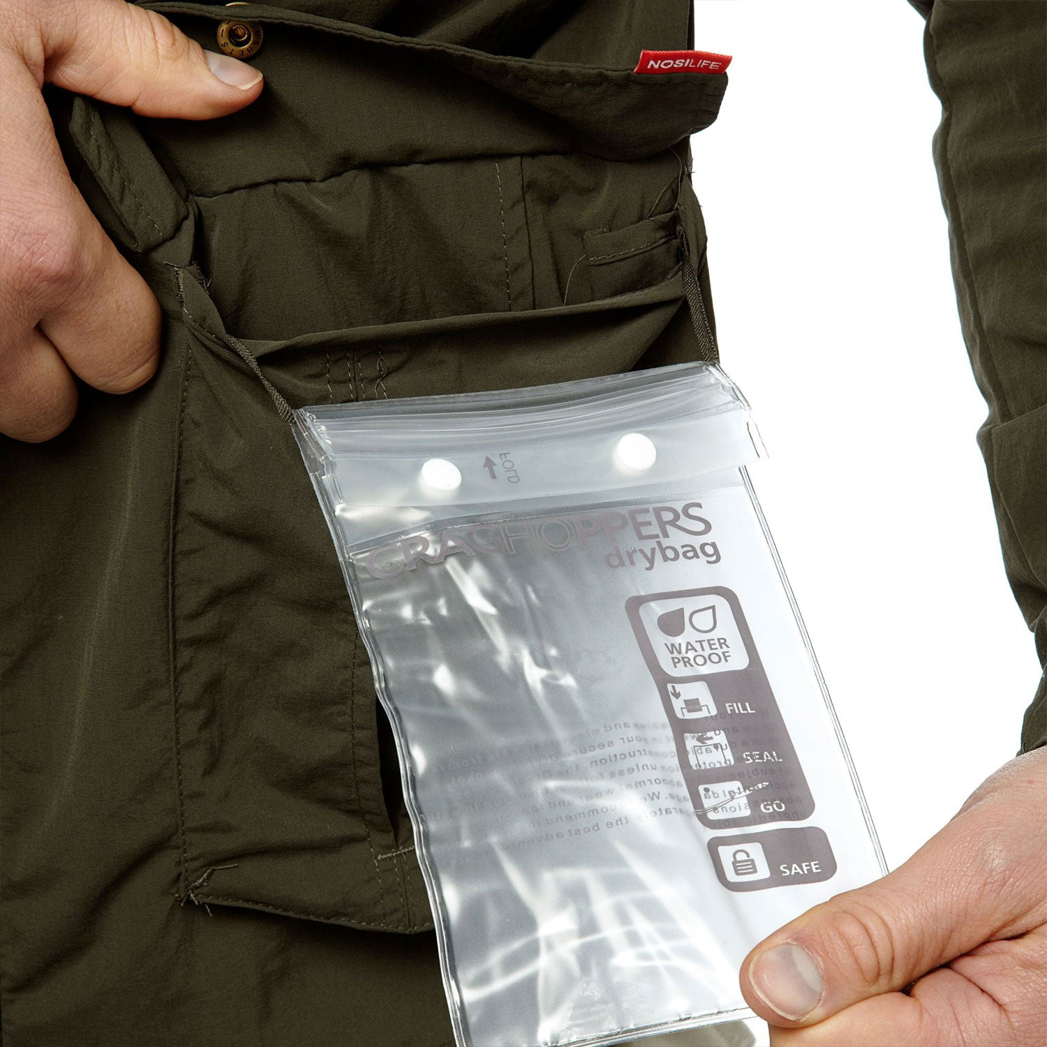 Dry bag protection pocket