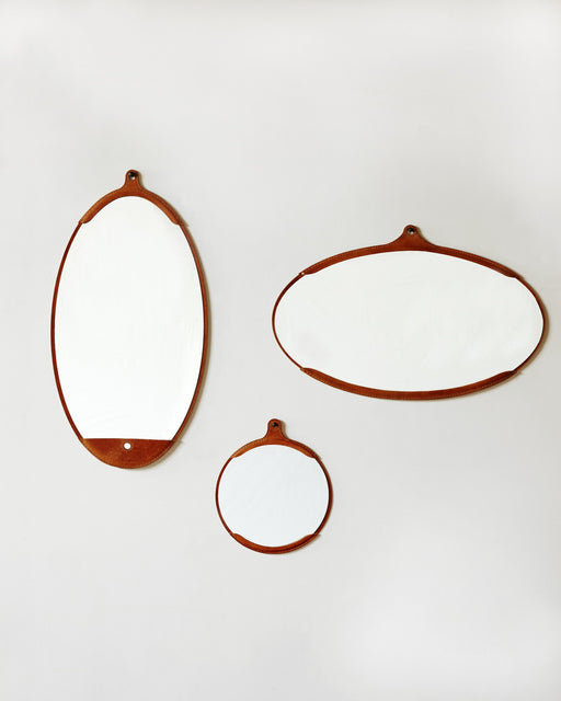 Lostine Fairmount leather mirror group