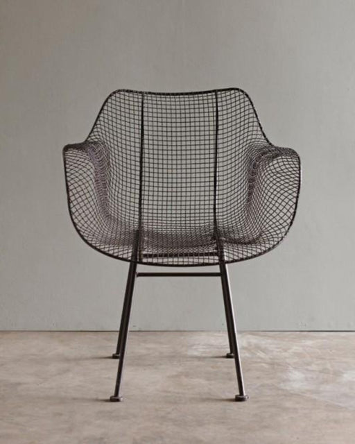 Biscayne  Wire Armchair - Brown - Furniture - Lostine