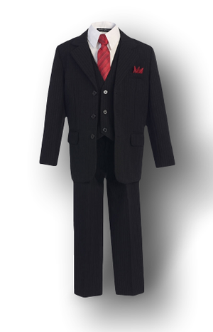 Black w/ pinstripe, Formal Boys Suit, kids, Infants, and Toddlers
