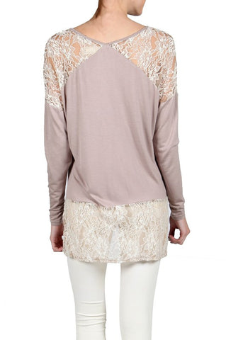 Hi-Lo Lace Detail Top - Shop Southern Muse