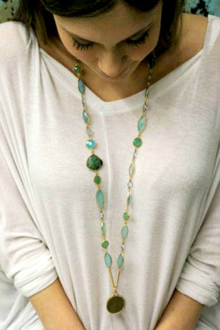 Catherine Page Bezel Coin Necklace - Shop Southern Muse