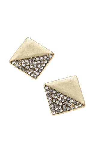 Gold Pave Stud Earrings - Shop Southern Muse