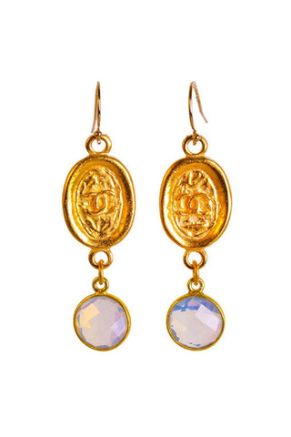 Catherine Page Chanel Tag Earrings - Shop Southern Muse