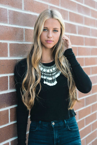 Coin Fringe Bar Statement Necklace - Shop Southern Muse