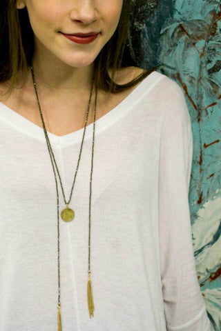 Catherine Page Coin on Strung Pyrite Necklace - Shop Southern Muse