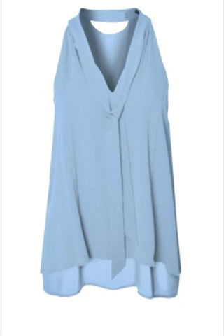 Dex Sky Blue Tie Top - Shop Southern Muse