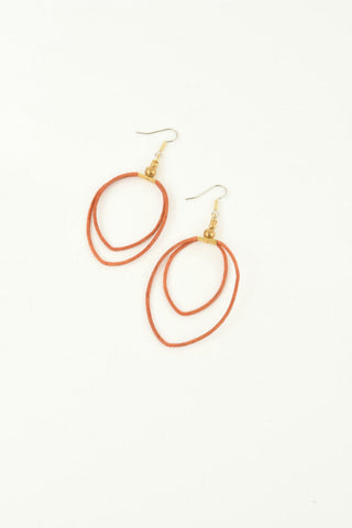 Ink + Alloy Double Leather Hoop Earrings - Shop Southern Muse