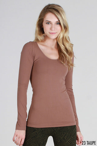 L/S Scoop Neck Layer Top