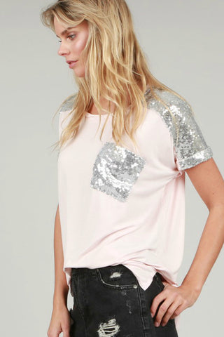 Blush Sequin Top - Shop Southern Muse