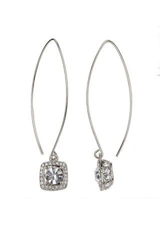 Square Crystal Wired Earrings
