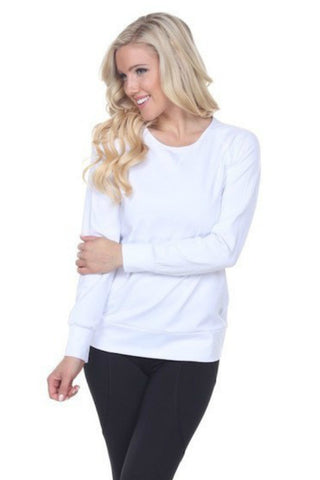 Southern Muse White Openback Athleisure Top