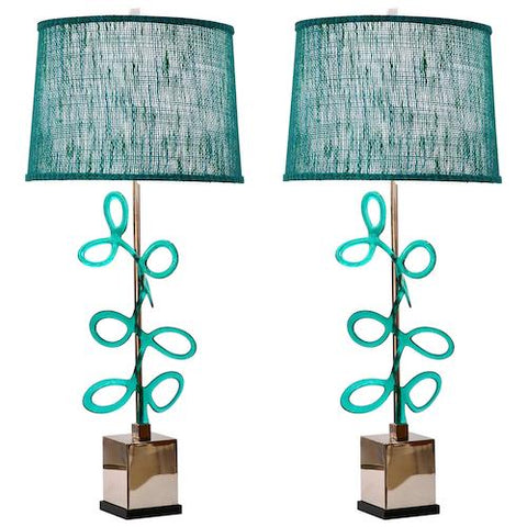 italian-nickel-lamps-aqua-murano-glass-swirls-754pa