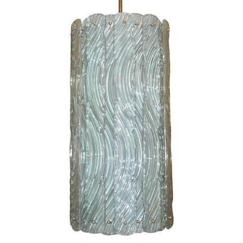 Contemporary-Monumental-Customizable-Lantern-blue-brass-murano-glass