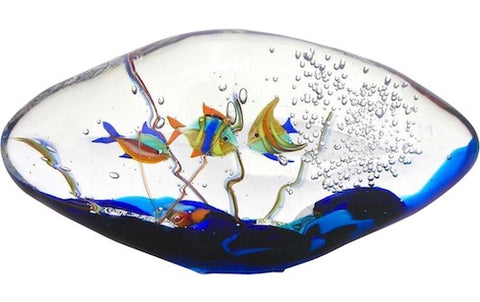 blue-yellow-orange-green-murano-glass-oval-aquarium-sculpture-699pa