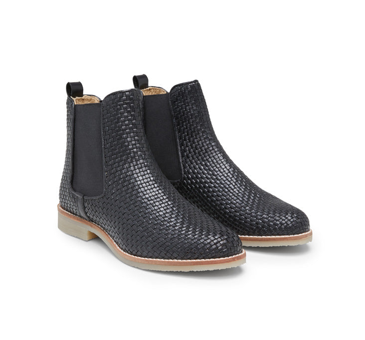 Sky woven leather ankle boot