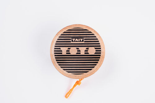 Sling-Slang YOYO is handcrafted from sustainably sourced maple wood and screen printed by hand, one at a time.  at Port of Raleigh