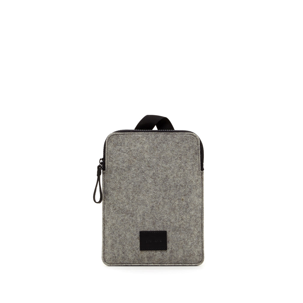 Modern minimalist iPad Mini carrying case made in USA of durable merino felt wool by Graf Lantz at Port of Raleigh