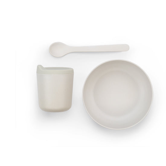 EKOBO | Bamboo Fibre Baby Dish Set (Cloud) at Port of Raleigh