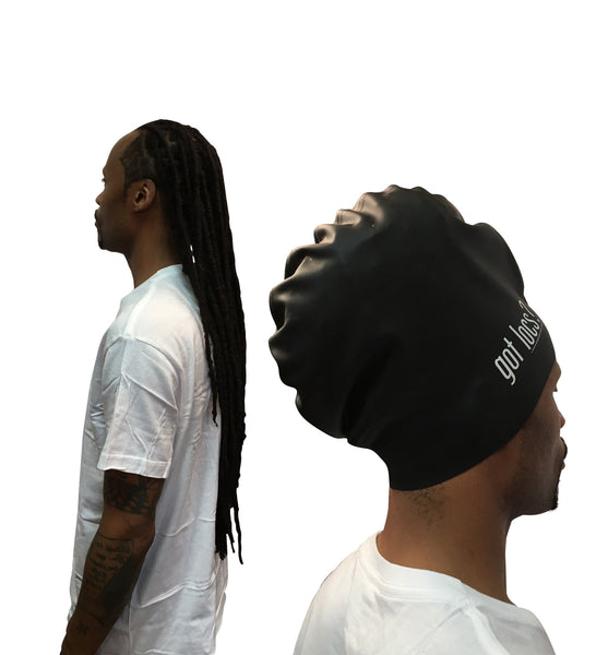 XL Swim Cap for Dreadlocks, Box Braids & Big Hair - Loccessories™