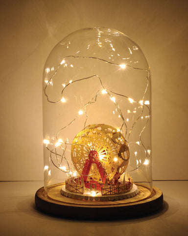 Ferris Wheel Light Model (Couple In Love Series) + Bell Jar with LED Star Light  [SPECIAL PACKAGE]