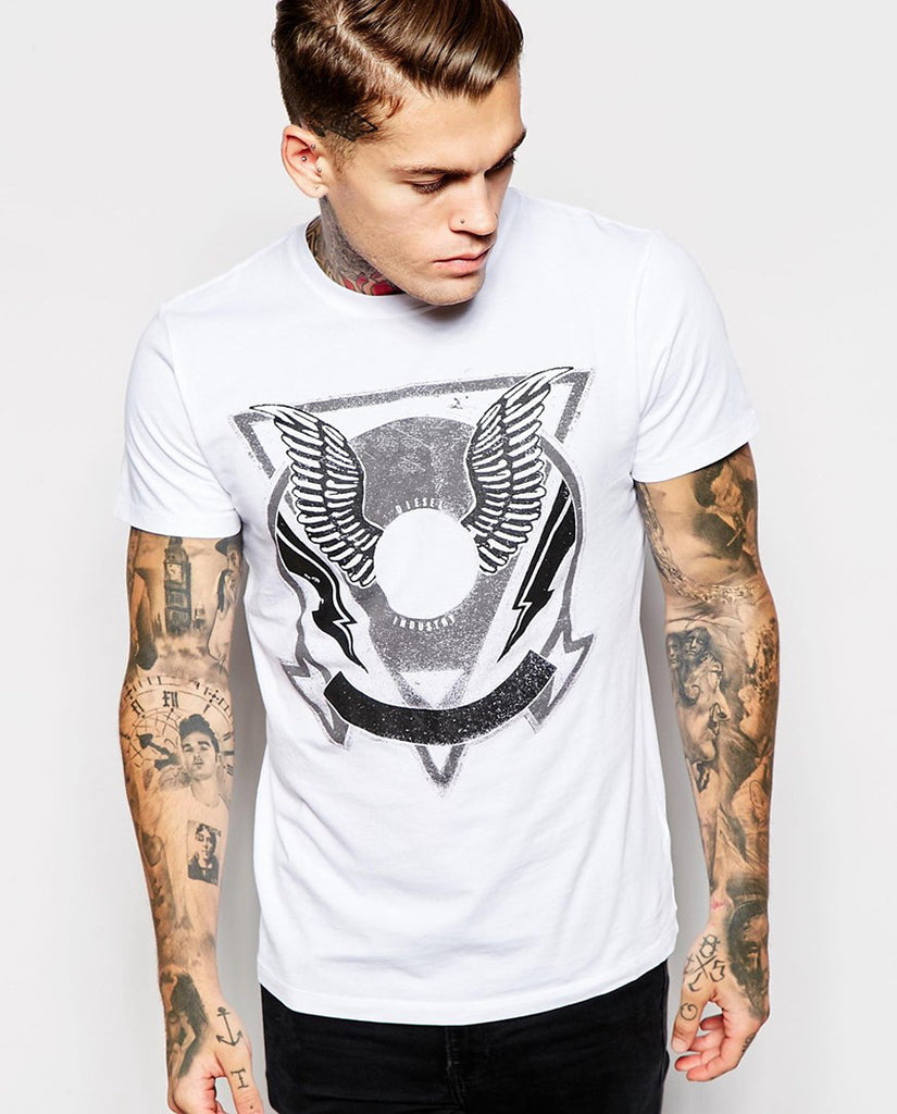 Diesel T-Shirt T-Clar Winged Triangle Print