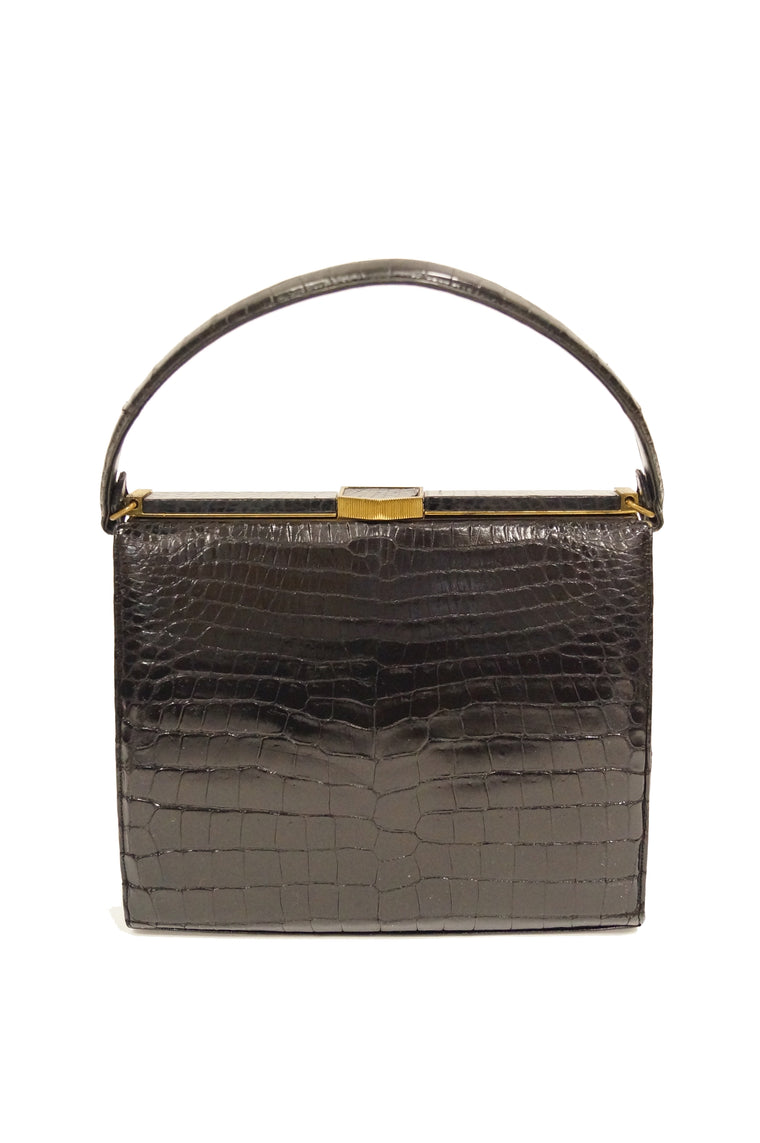 1950s Lucille de Paris Alligator Handbag