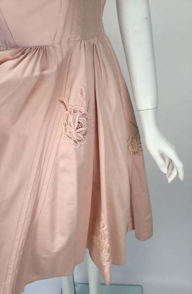 1950s Carlye Pale Pink Halter Dress