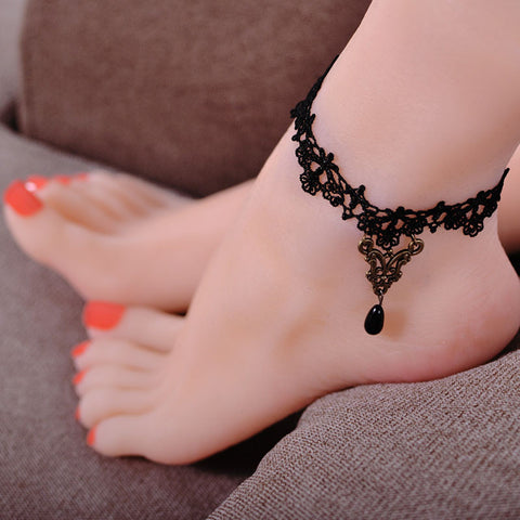 Flower Lace Ankle Bracelet