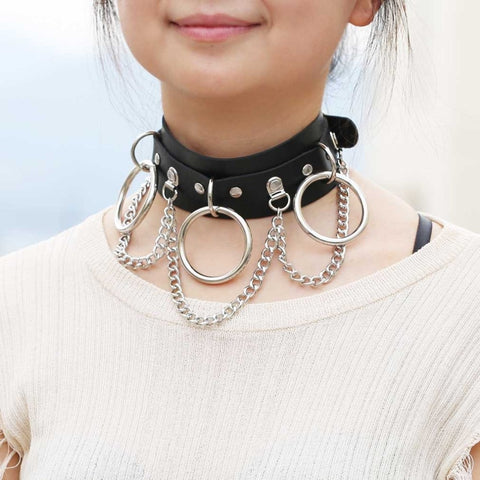Chain & Rings Choker Necklace
