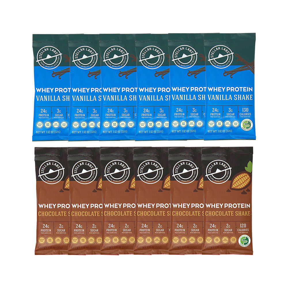 Whey Protein Shake Pack Combo - 12-Pack