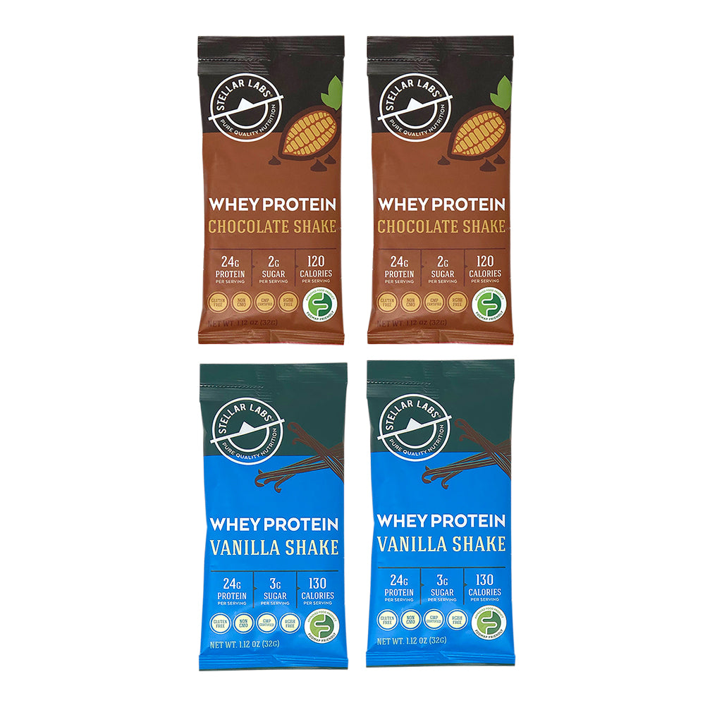 Whey Protein Shake Pack Combo - 4-Pack