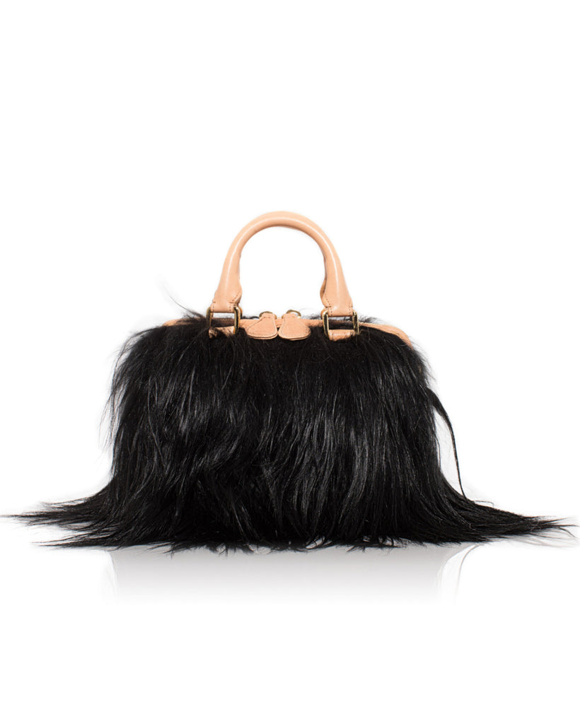 Black Long Goat Mini Island Bag