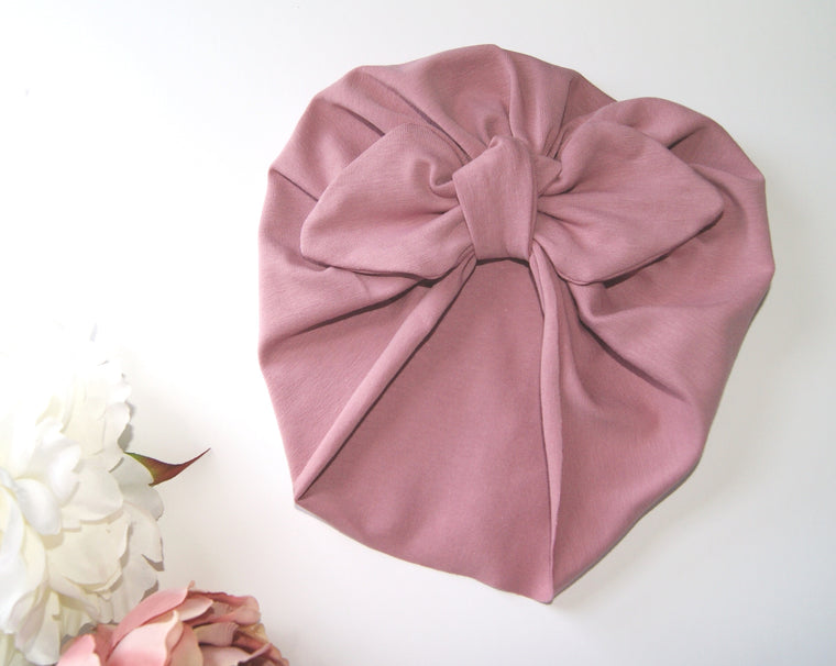 Baby turban with Bow- Various colours