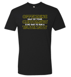 Blacklist Universe -- Offending Customers T-shirt - crypto.fashion