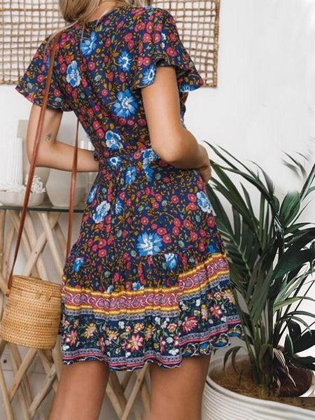 Gypsian Floral Mini Dress