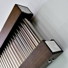 Accuro Korle Excel Vertical Designer Radiator Free Standing Wood and Aluminium Stylish Contemporary Modern Design FSC certified
