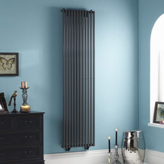 Oxfordshire Anthracite Vertical Designer Radiator | High BTU Output Radiator
