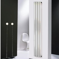 Merlo Chrome Vertical Designer Radiator | Space Saving Radiator