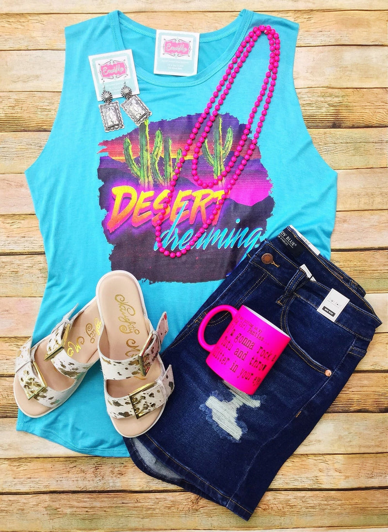 The Desert Dreams Turquoise Tank
