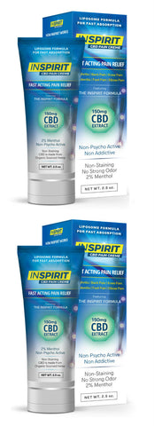 2 Tubes of InSpirit CBD Creme - 20% Savings and FREE Shipping